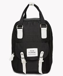 Kids On Board Patch Work Backpack - Black