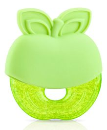Nuby Icy Bite Green Apple Shaped Water Filled Teether - Green