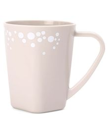 Plastic Dot Printed Mug With Handle  - 430 ml