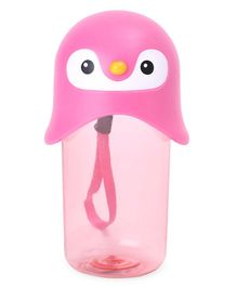 Water Bottle With Face Design Cap Pink - 420 ml
