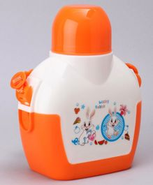 Water Bottle With Bunny Print Orange - 750 ml
