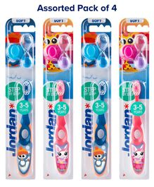 Jordan Step by Step Toothbrushes With Timer - Pack of 4 (Colour May Vary)