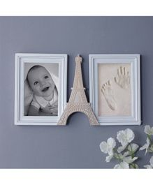 Quirky Monkey Eiffel Tower 2 Picture Photo Frame - White