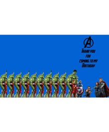 Funcart Avengers Thank You Cards Blue - Pack of 10