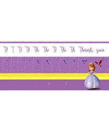 Funcart Sofia The Princess Thank You Cards Purple - Pack of 10