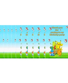 Funcart Pokemon Thank You Cards Multicolour - Pack of 10