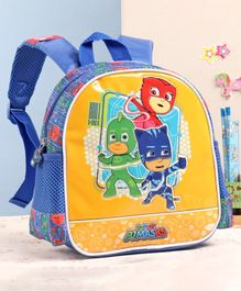PJ Mask School Bag Blue Yellow - 10 Inches