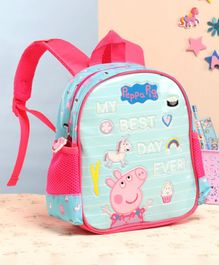 Peppa Pig School Bag Blue - 10 Inches