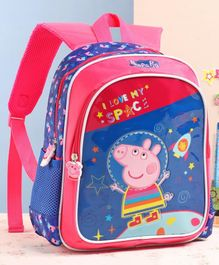 Peppa Pig School Bag Pink Blue - 12 Inches