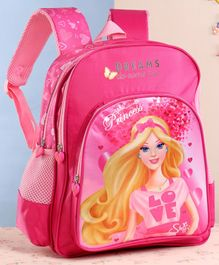 Steffi Love School Bag Princess Print Pink - Height 14 Inches