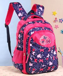 Steffi Love Printed School Bag Pink - Height 17 Inches