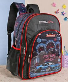 Majorette School Bag Future Beast Print Black - 16 Inches