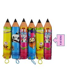 Ziory Pencil Pouch Return Gift Multiprint - Pack of 6