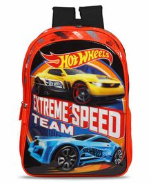 Hot Wheels School Bag Black Red - 14 Inches