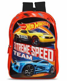 Hot Wheels School Bag Black Red - 16 Inches