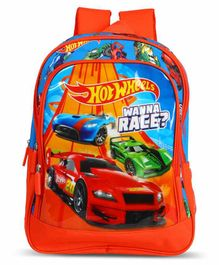 Hot Wheels School Bag Red - 14 Inches