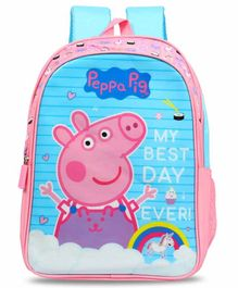 Peppa Pig School Bag Blue Pink - 14 Inches