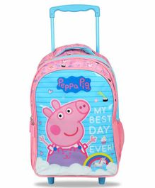 Peppa Pig Trolley Backpack Blue Pink - 16 Inches