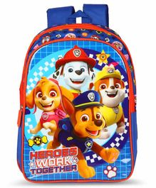 Paw Patrol School Bag Blue - 14 Inches