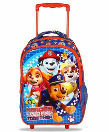 Paw Patrol School Bag with Trolley Blue - 16 Inches