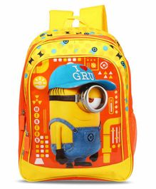 Minions School Bag - Yellow - 14 Inches