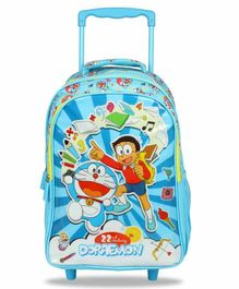Doraemon Trolley Backpack Blue - 16 Inches