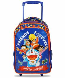 Doraemon Trolley Bag Blue - 16 Inches