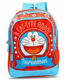 Doraemon School Bag Blue Red - 14 Inches