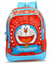 Doraemon School Bag Blue Red - 16 Inches