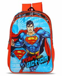 Superman School Bag Blue - 18 Inches