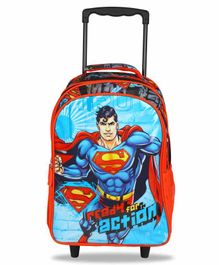 DC Comics Superman Trolley Bag Red Blue - 18 Inches