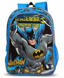 DC Comics Batman Backpack With Adjustable Shoulder Strap Caper Crusader Print Blue - Height 18 Inches