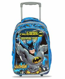 DC Comics Batman Trolley Bag Blue Grey - 16 Inches