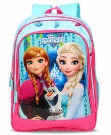 Disney Frozen Backpack Anna Elsa Print Blue - 16 Inches