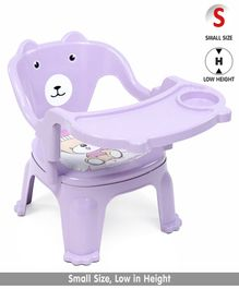 Chair With Feeding Tray Bear Print - Purple