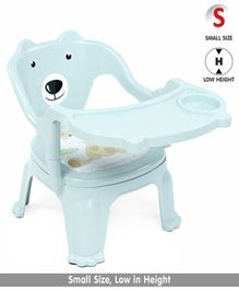 Chair With Feeding Tray Bear Print - Blue