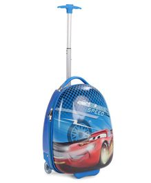 Disney Pixar Cars Trolley Bag Blue - Height 16 inches
