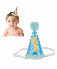 Babymoon Sparkle Princess 1st Birthday Hat (Colour May Vary)