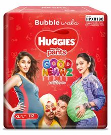 Huggies Wonder Pants Extra Large Size Diapers Monthly ( Good Newwz Special Edition ) Pack - 112 Pieces