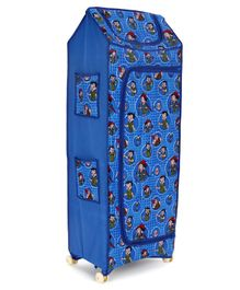 Kids Zone Play Time Big Jinni 5 Shelves Almirah Chhota Bheem Print (Color & Print May Vary)