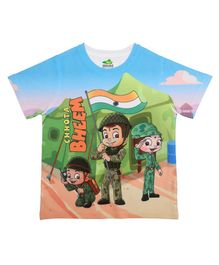Chhota Bheem By Crossroads Characters Printed Half Sleeves Tee - Multi Colour