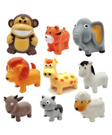 Emob Animal Shaped Squeezy Bath Toys Multicolour - 9 Pieces