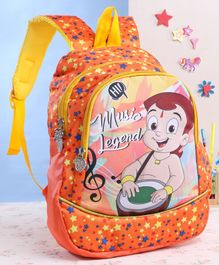 Chhota Bheem School Bag Orange - 13 Inches