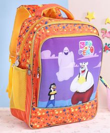 Beo n Peno School Bag Orange - 17 Inches