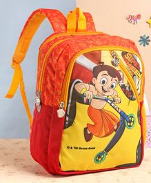 Chhota Bheem School Bag Orange - 14 Inches