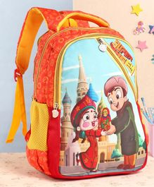 Chhota Bheem School Bag Orange - 16 Inches