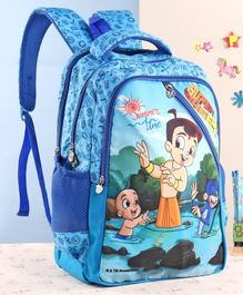 Chhota Bheem School Bag Blue - 18 inches