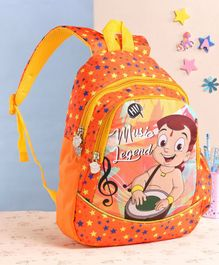 Chhota Bheem School Bag Orange - 15 Inches