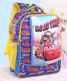 Disney School Bag Pixar Car Print Blue - 16 Inches