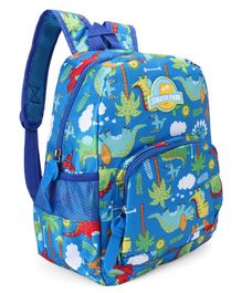 School Bag Dinosaur Print Blue -13 Inches